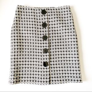 Isaac Mizrahi for Target houndstooth wool skirt